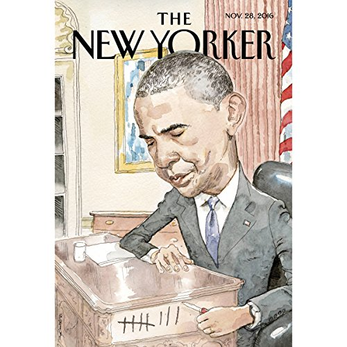 The New Yorker, November 28th 2016 (David Remnick, Nicola Twilley, Jelani Cobb) cover art