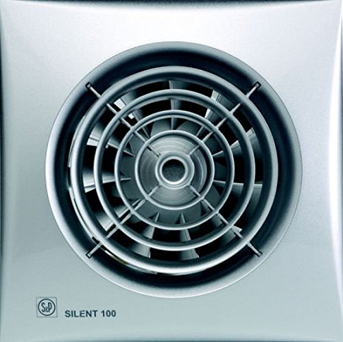 S & p silent-100 - Extractor bano silent100silver-crz 8w 2100rpm