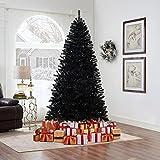 Naomi Home Artificial Christmas Tree Contemporary Spruce Tree Black/6 ft
