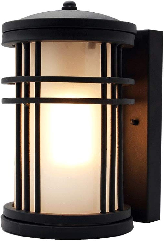 LifeX Moderne im Freien schwarze Wandleuchte wasserdichte Schmiedeeisen-Wandleuchte-Wandleuchte-runde rostfreie Wandlampe auerhalb der Patio-E27-Boden-Wandleuchte für Garagenganghof