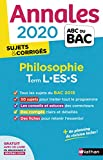 Annales ABC du Bac 2020 Philosophie Term L-ES-S