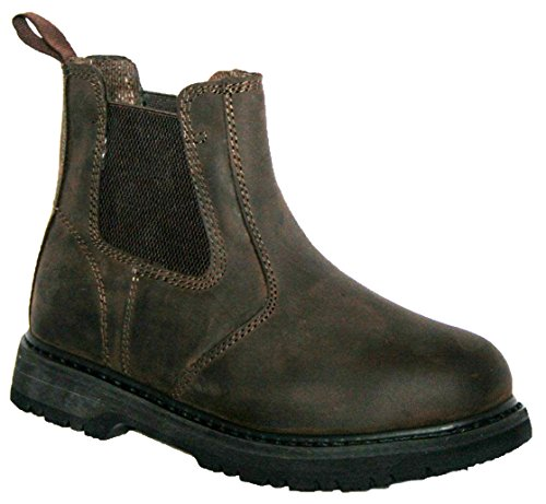 Groundwork Mens GR20 Twin Side Gusset Pull ON Steel Toe Cap Safety Boot...