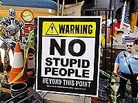 「アホなヤツはココから入るなよ!」のステッカー バッドアス・ステッカー#016 アメリカ雑貨 カスタムシール