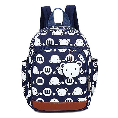 MCUILEE Mochila Infantil Bolsa de Escuela PequeñA Bebes Guarderia Bolsa,Azul Oscuro