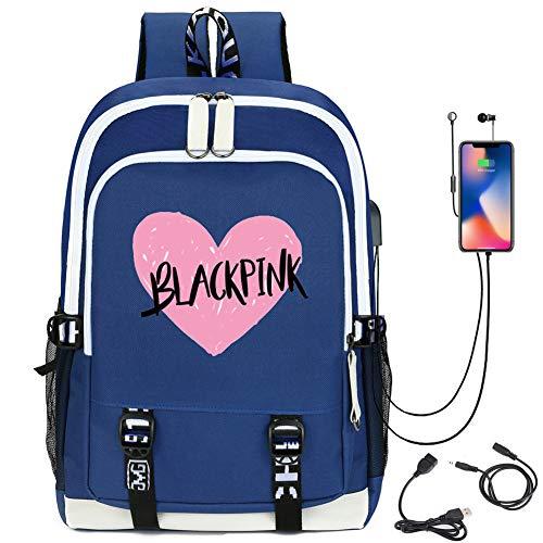 51w0IJNpRhL - Mochila Blackpink 36L-55L con Puerto de Carga USB Mochila de Ocio para Niñas Niños