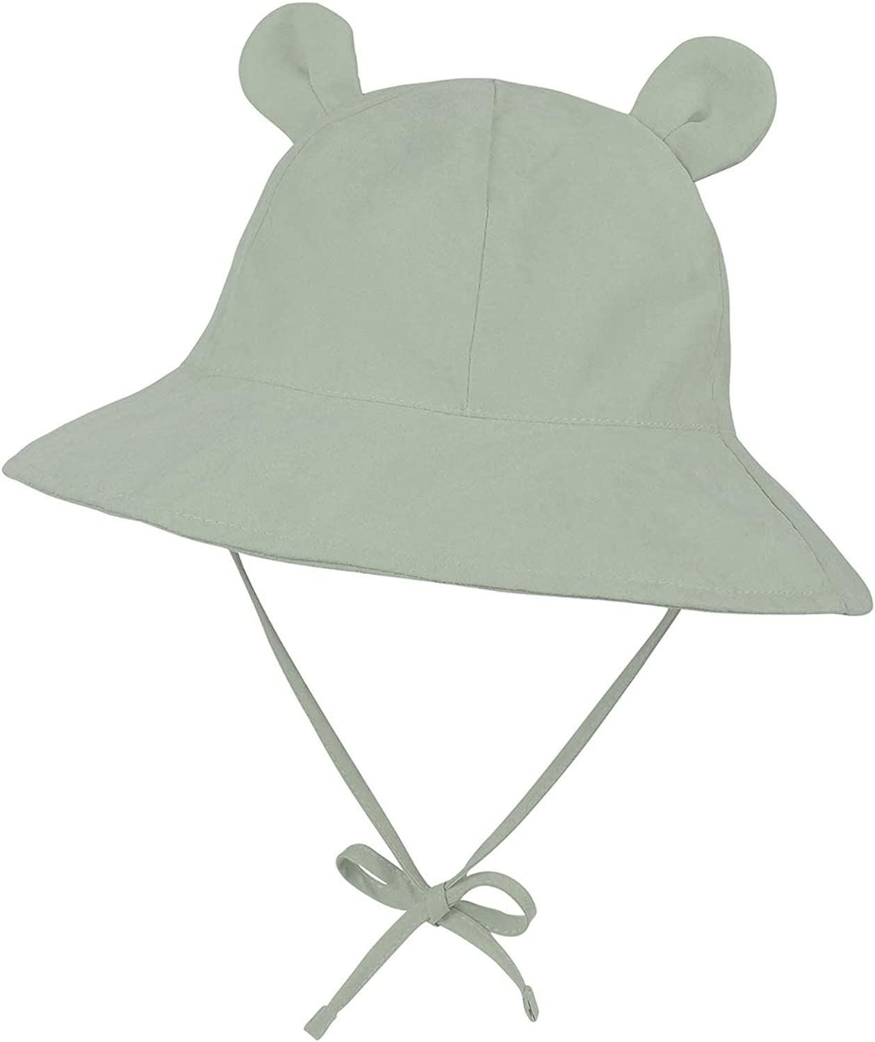Baby Sun Hat Toddler Beach Hats UPF 50+ Wide Brim Baby Boy Girls Summer Play Hat Infant Sun Protection Hats with Bear Ears