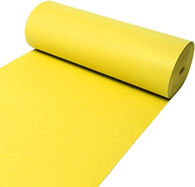 YANZHEN Hallway Runner Rugs Corridor Carpet Non-Slip Disposable Easy to Clean Stairs Wear Resistant Yellow, Customize (Color : A, Size : 1.5x5m)