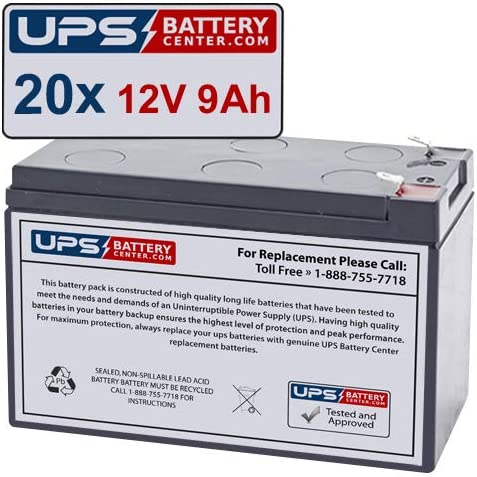 20 12V 9Ah Manufacturer OFFicial shop F2 - Fresh Stock Battery Year-end annual account Compatible Pow PCM for Set