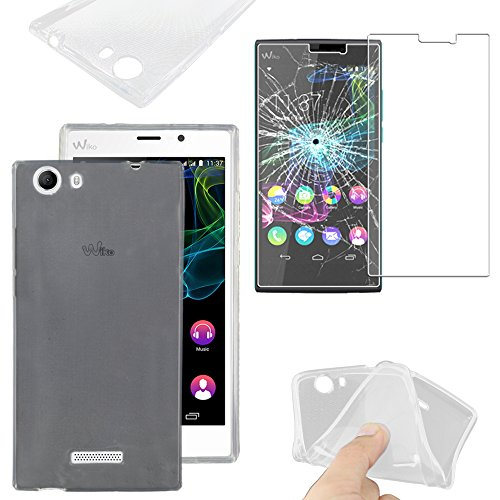 ebestStar - kompatibel mit Wiko Ridge Fab 4G Hülle Handyhülle [Ultra Dünn], Durchsichtige TPU Schutzhülle, Soft Flex Silikon, Transparent +Panzerglas Schutzfolie [Phone: 156x78.2x8.6mm 5.5