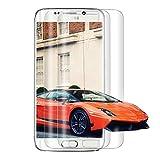 [2 Pièces] Verre Trempé pour Samsung Galaxy S6 Edge, [3D Couverture Complète] Film de Protection...