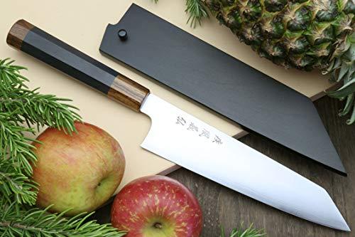 Yoshihiro HAP40 High Speed Stainless Steel Kiritsuke Multipurpose Chefs Knife Ebony Handle (10.5'' (270mm))