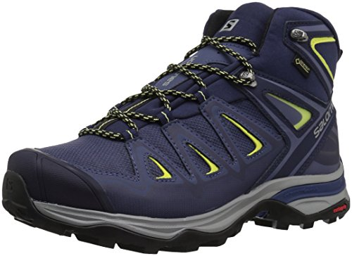 Salomon Women's X Ultra 3 MID GTX W Hiking, Crown Blue/Evening Blue/Sunny Lime, 6