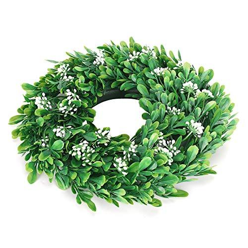 Dibiao Plástico Simulado Flor Vid Guirnalda Flor Artificial Hojas Verdes Guirnalda Decoración para Pecera Decoración de Ventana Y Paisajismo Colgante de Pared