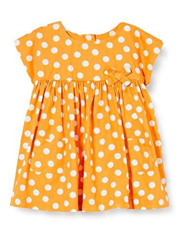 United Colors of Benetton Dziewczęca sukienka Vestito, Żółty (Golden Brown 61z), 56 cm