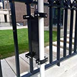 Outdoor Umbrella Base, Umbrella Holder, Umbrella Mount, Umbrella Clamp Universal on Deck or Patio Attaches to Railsor Fence Post