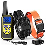 Cambond Dog Shock Collar with Remote, Waterproof Dog Training Collar 2600ft Control Range Rechargeable Shock Collar for Medium and Large Breed Dogs with 4 Training Modes Light Shock Vibration Beep