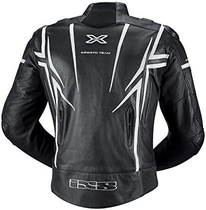 IXS Men's Sting Jacket (Black/White, Size US 42/Size EU 50)
