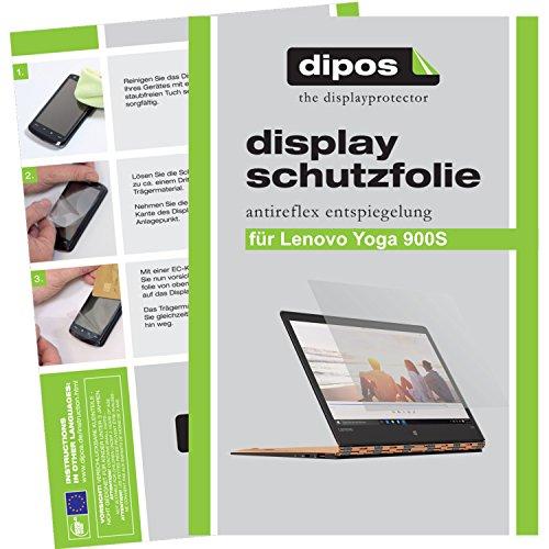 dipos I 2X Schutzfolie matt kompatibel mit Lenovo Yoga 900S Folie Bildschirmschutzfolie