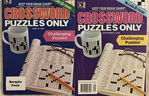 Lot of 2 Herald Tribune Crossword Puzzles Only Crosswords Books 2019