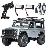 GAO-bo Coche de juguete con mando a distancia, 2,4 G 1/12 4 WD RTR Crawler RC Car Off-Road Buggy para Land Rover modelo de vehículo gris, dos pilas