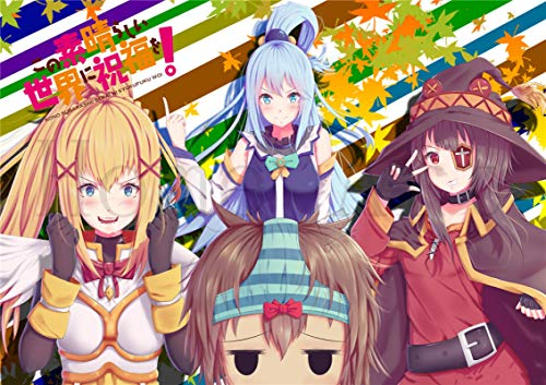lubenwei KonoSuba God's Blessing on this Wonderful World Poster Canvas Painting Posters and Prints Wall Art Picture for Living Room Home Decor (AY-931) 50x70cm No frame