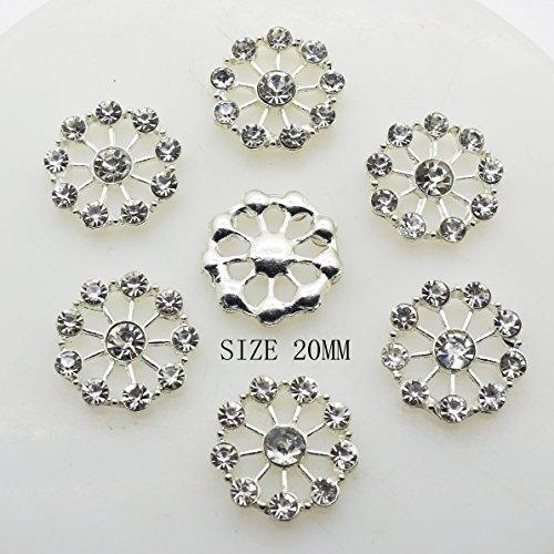 Lot de 30 boutons ronds en acrylique en forme de cristal 20 mm