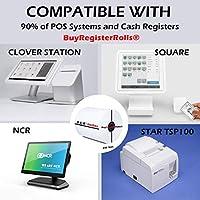 3 1/8インチ x 230フィート サーマルペーパー (200ロール) スターミクロニックス SCP700、スターTSP100、スターTSP300シリーズ、スターTSP400シリーズ、スターTSP600シリーズ、スターTSP 700シリーズ、スターTSP2000シリーズ。