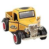 Tire hacia atrás del coche de juguete, aleación Pull Back Car Toy Truck Model Diecast Toy Alloy Body Truck Model Car Toy, Pickup Truck Toy Niños Regalos para colecciones Niños(yellow)