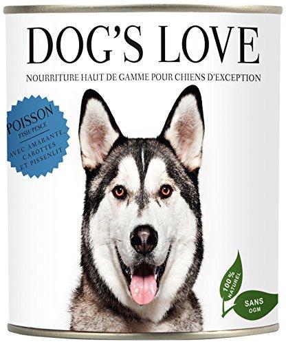Dogs Love Premium Hundefutter Nassfutter Fisch mit Amaranth, Karotte & Löwenzahn (12 x 200g)