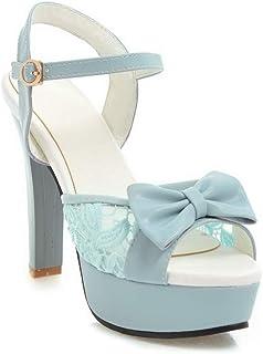 BalaMasa Womens ASL06236 Leather Platform Heels