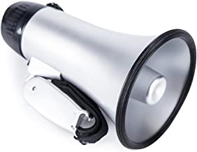 Sugar home Portable Megaphone Bullhorn 20 Watt Power Megaphone Speaker Voice and Siren/Alarm Modes with Volume Control and Strap