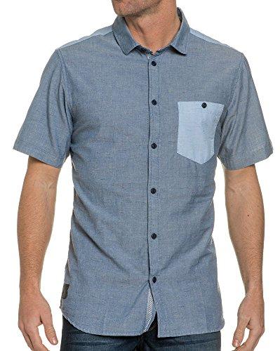 HUMÖR - Blaues Hemd mit Brusttasche - Color: Blau, Size: XS