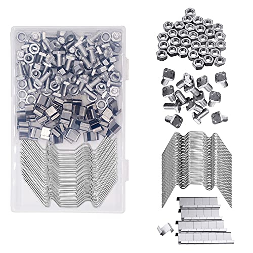Baogaier Greenhouse Clips Clamps Kit 200PCS Green House Repair Accessories Stainless Steel 50 W Wire...
