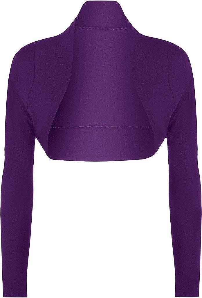 RM Fashions Women's Plus Size Long Sleeve Open Bolero Shrug Cardigan Short Top (Size US 10- US 24)