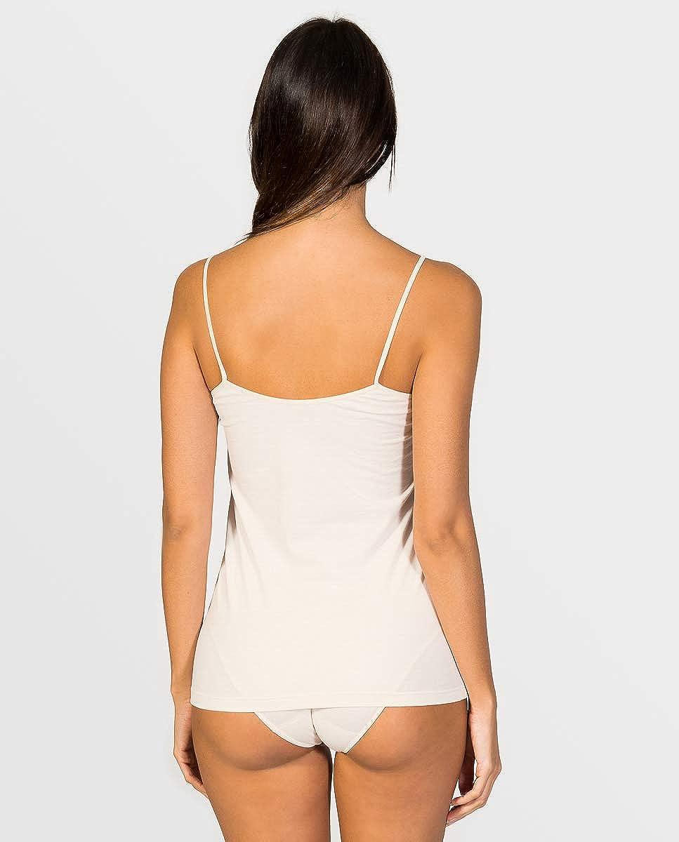 Colores y Tallas Disponibles de la 38 a la 46 ZD ZERO DEFECTS Camiseta Interior de Tirante de Mujer con blonda
