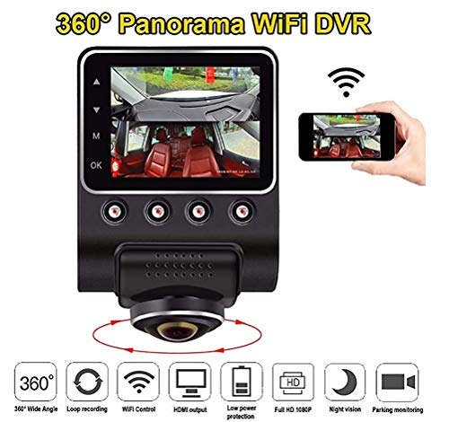 JINGBO 360 Grad Panorama-WiFi-Auto DVR-Kamera Full View HD 1080P Recorder Hidden Camcorder Dash Cam Night Vision Car Parking Monitoring