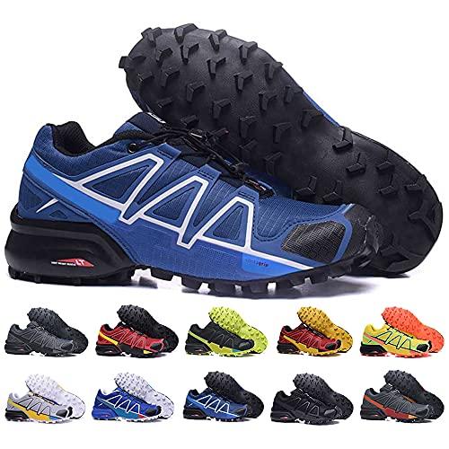 KUXUAN Zapatillas de Ciclismo Hombre Mujer - Zapatillas de Senderismo Zapatillas de Running Zapatillas de Caminar - Ligeras y Transpirables,DarkBlue-43