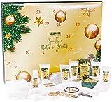 Brubaker Cosmetics Beauty Adventskalender 2020 – 24 x Körperpflege Produkte & Spa Accessoires - der XXL Wellness Weihnachtskalender für Frauen und Mädchen - Gold