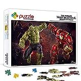 Puzzle de 300 piezas Avengers 2 Ultron Age Hulk vs Hulk Póster de película Rompecabezas para niños Juegos educativos Rompecabezas de decoración del hogar 38x26cm