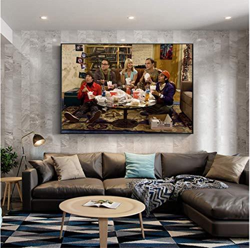 H/M Vintage Filmplakat The Big Bang Theory Wandkunst Gemälde Leinwand Bilder Wohnzimmer Home Decor Kinderzimmer Dekor 50X70Cm -Gl152