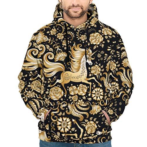XHJQ88 Unisex Sweatshirts Student Eenhoorn Bloem Plant Print Grappig - Hooded Hardlopen Trainingsjas