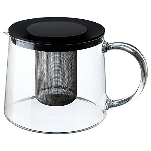 RIKLIG Glas-Teekanne mit integriertem Teesieb im modernen Stil 0,6 und 1,5 Liter Größen IKEA (1,5 Liter)