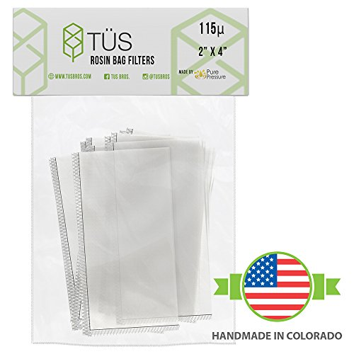 """115 Micron Rosin Press Squish Bags • 2"""" x 4"""" • 20 Pack • 115u Microns Filter Screen Made from Polyester ft. Proprietary Stitching- Heavy Duty Rosin Tech Bag Highly Rated for Zero Chances of Blowout"""