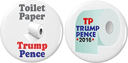 Set 2 Toilet Paper Trump Pence TP Anti Against President/VP 2.25