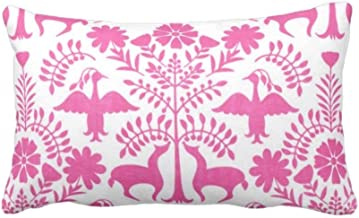 Otomi Pillow Pink and Emerald