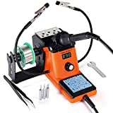 YIHUA 926 III Digital Soldering Iron Station, 60W with 2 Helping Hands, 194ºF~896ºF Adjustable, °C/ºF Display, Sleep & Calibration Functions, 3 Extra Solder Tips, Solder Wire and Spare Parts