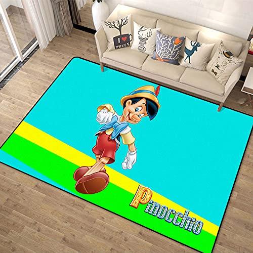 Alfombra para Dormitorio De Niña, Sala De Estar, Alfombrilla para Gatear para Bebés, Alfombrilla para Puerta De Dibujos Animados De Pinocho, Alfombra para Decoración De Habitación Minimalista Moderna