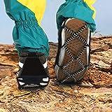 minifinker Tacos de tracción para la Nieve, Pinzas Antideslizantes para el Hielo en Invierno, fáciles de Transportar y almacenar para Senderismo, Pesca, Escalada para Zapatos de tamaño EU 35-43 para