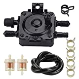 Tvent 149-1982 149-1544 Fuel Pump w FuellineFuelFilter Replacement for P216G P218G P220G P224G B43E B48G B48G B43 B48 P218 P220 Mower