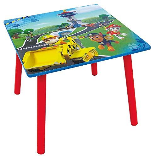 Fun House Fun HOUSE-712593-PAT Patrouille-Table carrée pour Enfant, Bois MDF, Bleu, 50x50x44 cm